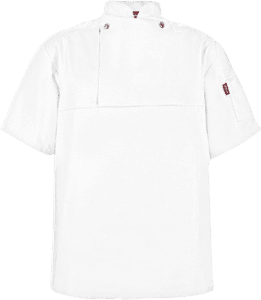 STOCK - CHEFS FLAP SHIRT POLYCOTTON SS-WHITE