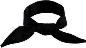 STOCK - BANDANNA OR DOEK, TRIANGULAR - BLACK