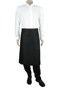 STOCK - HALF APRON WITH POCKET - BLACK